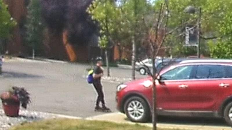 Firearm theft suspect caught on camera
