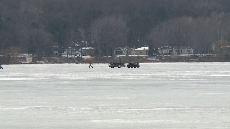File photo of ATV on frozen lake.