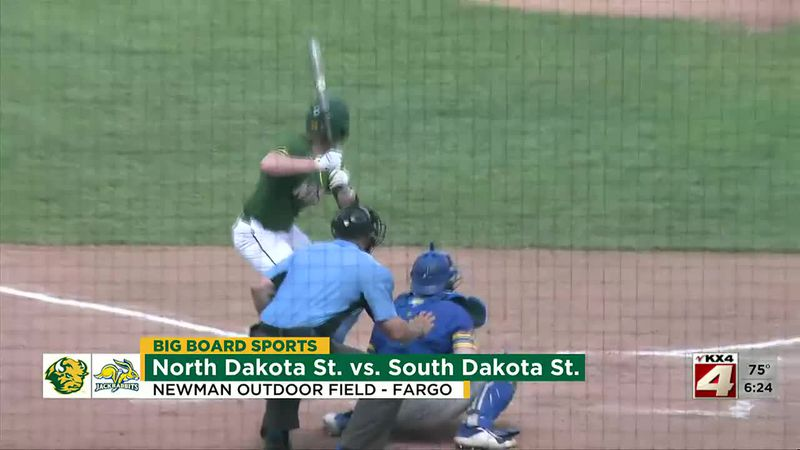 Sports - NDSU Baseball Rallies to Beat SDSU 5-3