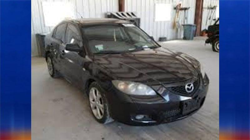 Black Mazda 3 reported stolen