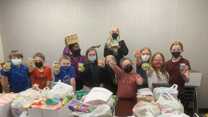 Independence Elementary students collect play-doh