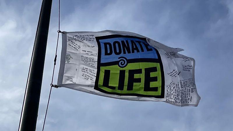Organ donation flag raised in honor of Jupiter Paulson