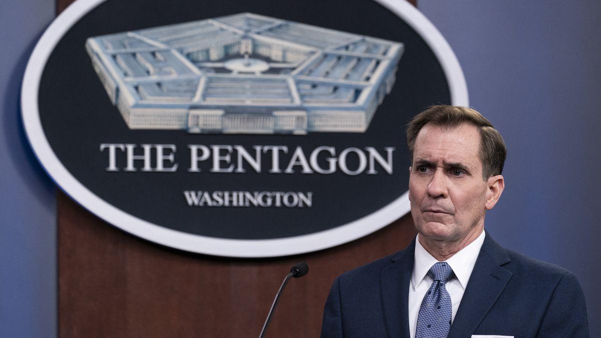 In this Wednesday, Feb. 17, 2021, file photo, Pentagon spokesman John Kirby speaks during a...