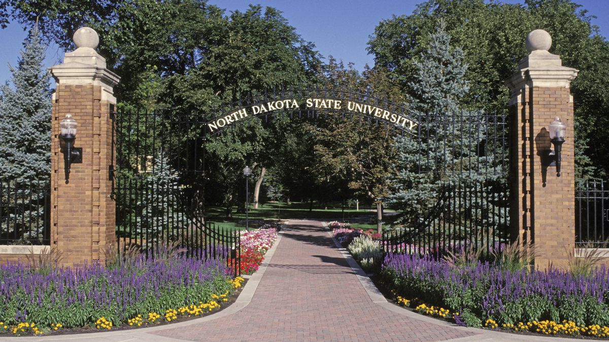 Main Gate to NDSU.