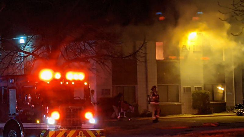 FIRE AT GRAND INN HOTEL