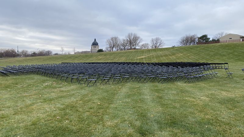 The memorial took place to commemorate the hardship COVID-19 had caused in South Dakota.