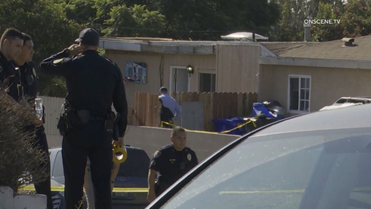 Five people, including 3 children, are dead after an apparent murder-suicide in the Paradise Hills neighborhood of San Diego. (Source: OnScene TV/CNN)