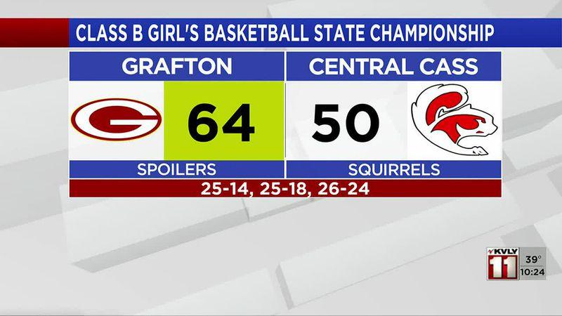 Sports - Class B Girl's Basketball Tournament: Grafton defeats Central Cass 64-50