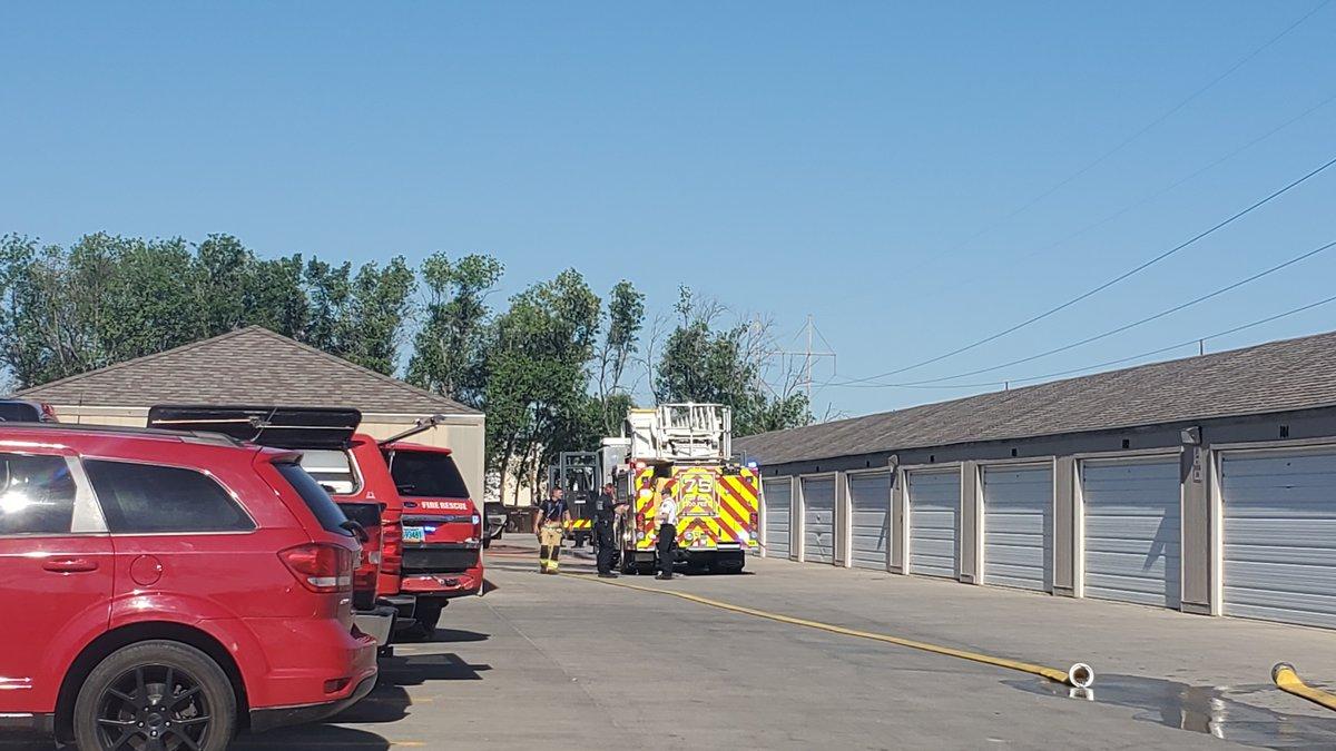 Vehicle fire in West Fargo