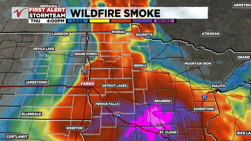 Wildfire Smoke in the RRV Thursday