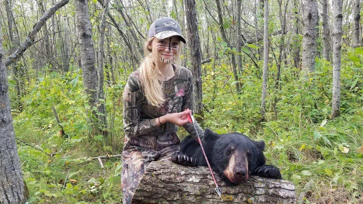 13-year-old Minot girl harvests first bear in Minnesota