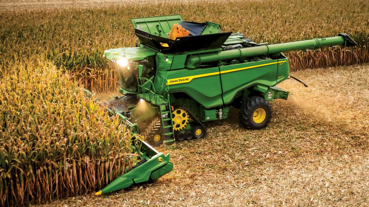 John Deere shared this picture of its new X Series combine in the corn.