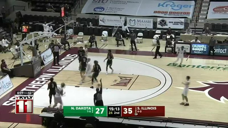 Sports - Southern Illinois outlasts UND Friday, 62-50