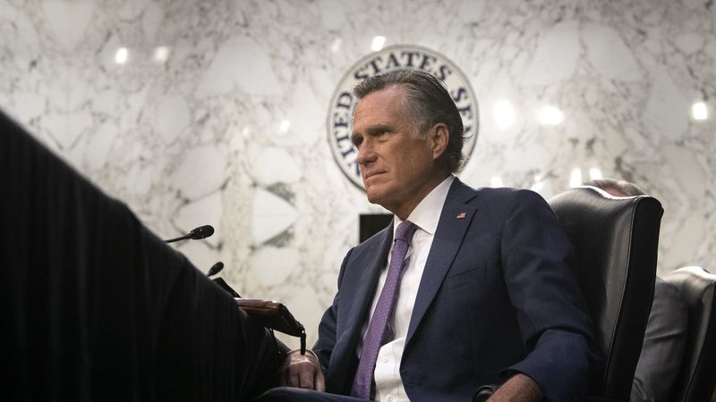 Sen. Mitt Romney, R-Utah, listens during a Senate Health, Education, Labor, and Pensions...