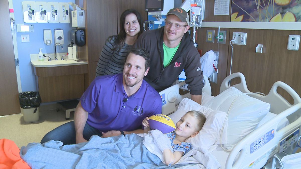 Chad Greenway stops by and visit some of his youngest fans at Sanford Children's Hospital.