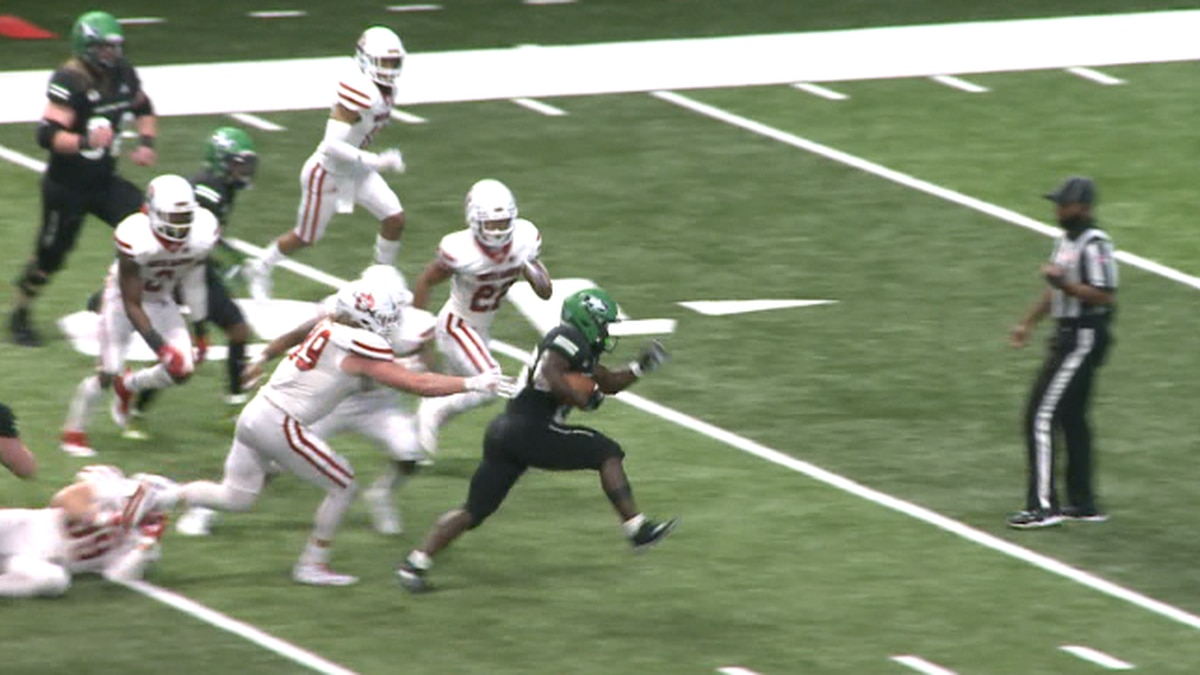 Weah finished the year with a touchdown in every game the Fighting Hawks played