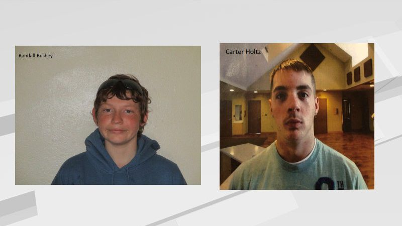 Randall Bushey (on the left), Carter Holtz (on the right)