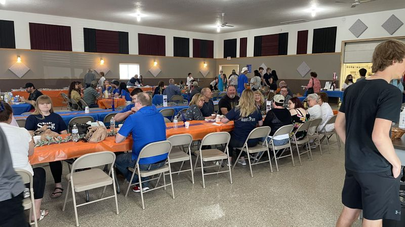The Argusville Community Center hosted a breakfast drive for the 'Brady Strong' campaign.
