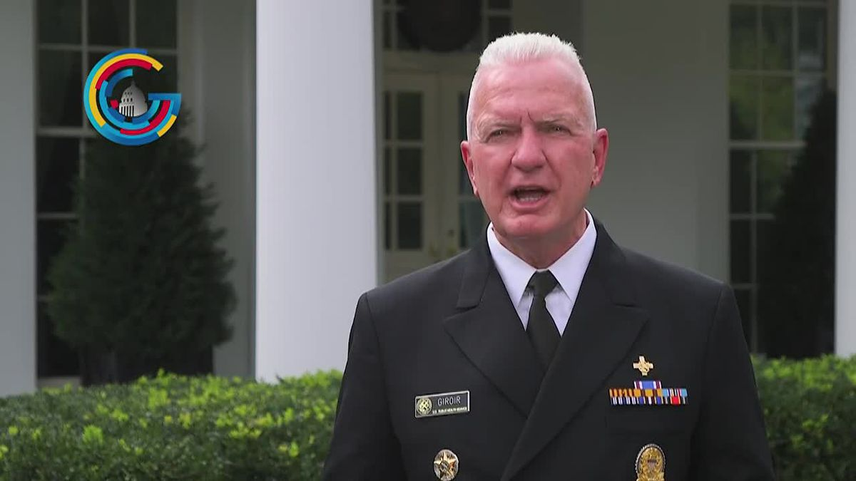 Admiral Brett Giroir reacts to White House announcement of rapid test deployment to all 50 states