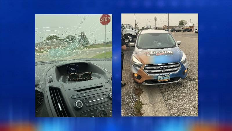 VNL vehicle vandalized