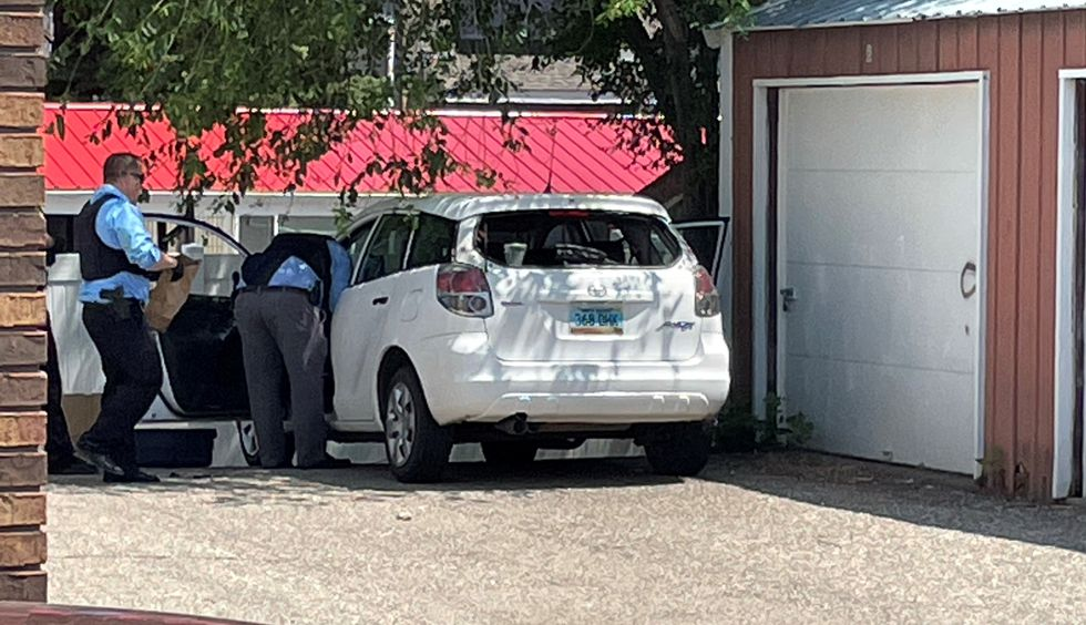 Stolen vehicle that the attempted robbery suspect was driving.
