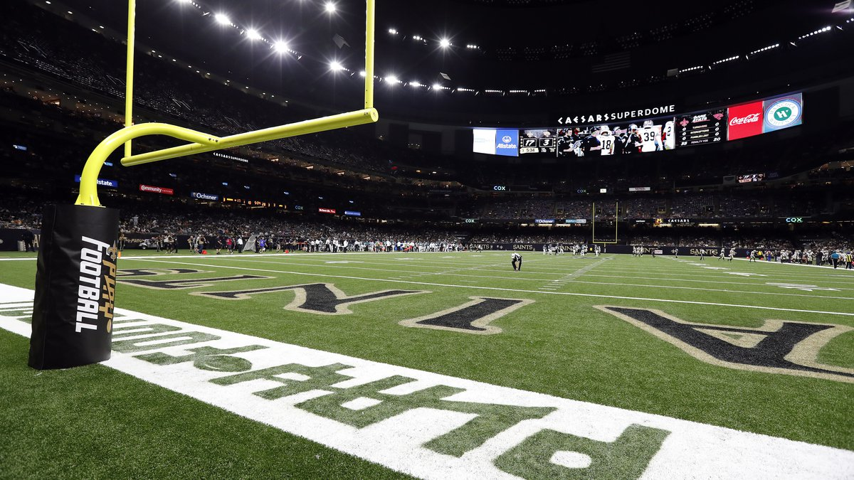 A view during a preseason NFL football game between the New Orleans Saints and the Jacksonville...