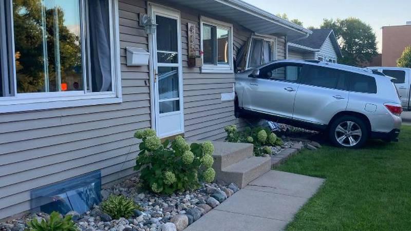 Car plows through Molly & Jared Blanchet's Moorhead home Tuesday night
