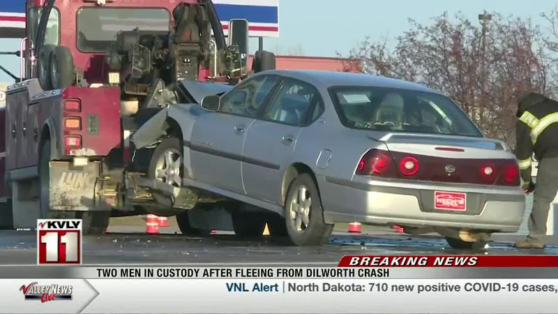 News - Two Men In Custody After Fleeing From Dilworth Crash
