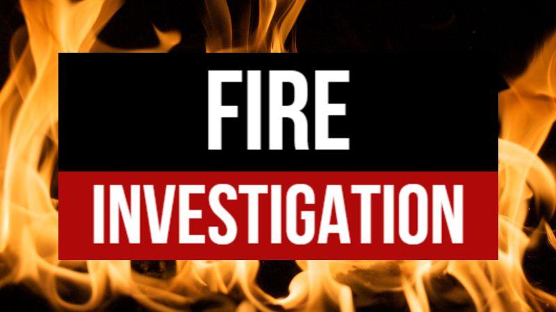 Fire investigation graphic
