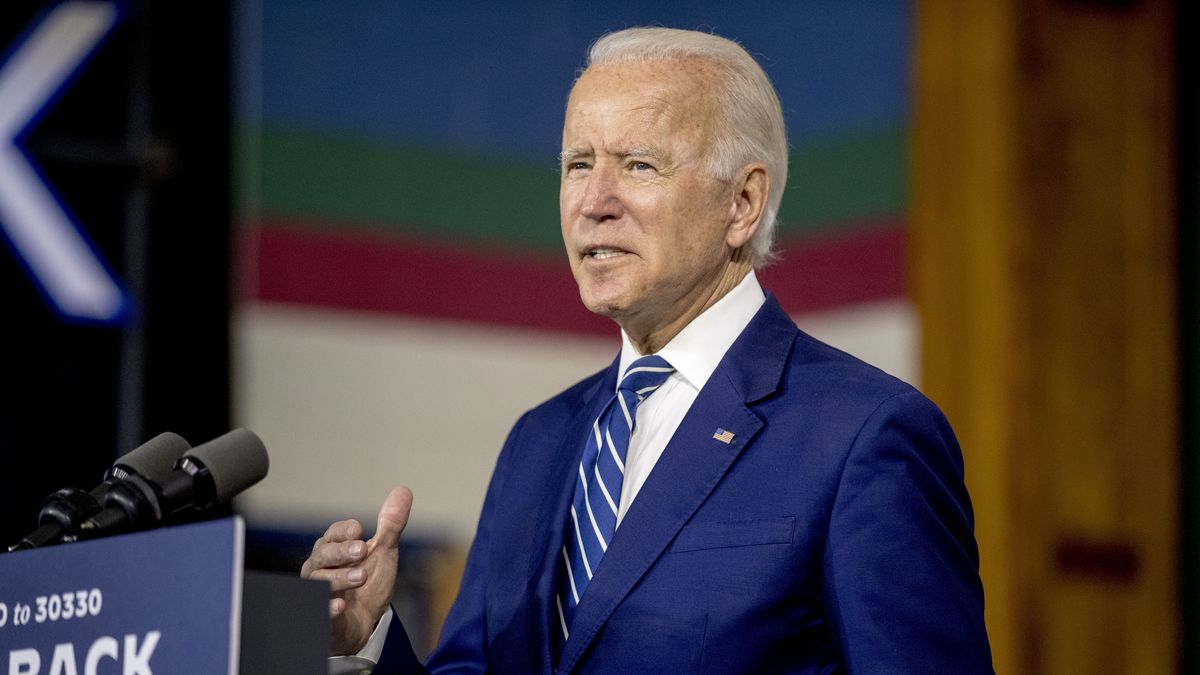 Former Vice President Joe Biden speaks at a campaign event at the Colonial Early Education Program at the Colwyck Training Center, Tuesday, July 21, 2020, in New Castle, Del.