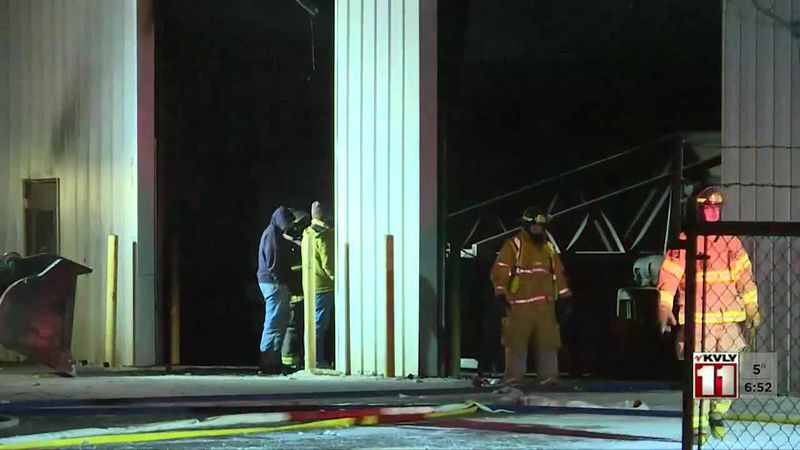 News - Fire at Richland County Highway Shop in Hankinson