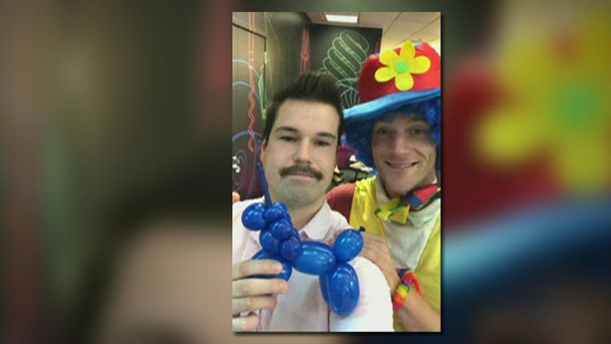 Man takes emotional support clown to work as he fears being fired