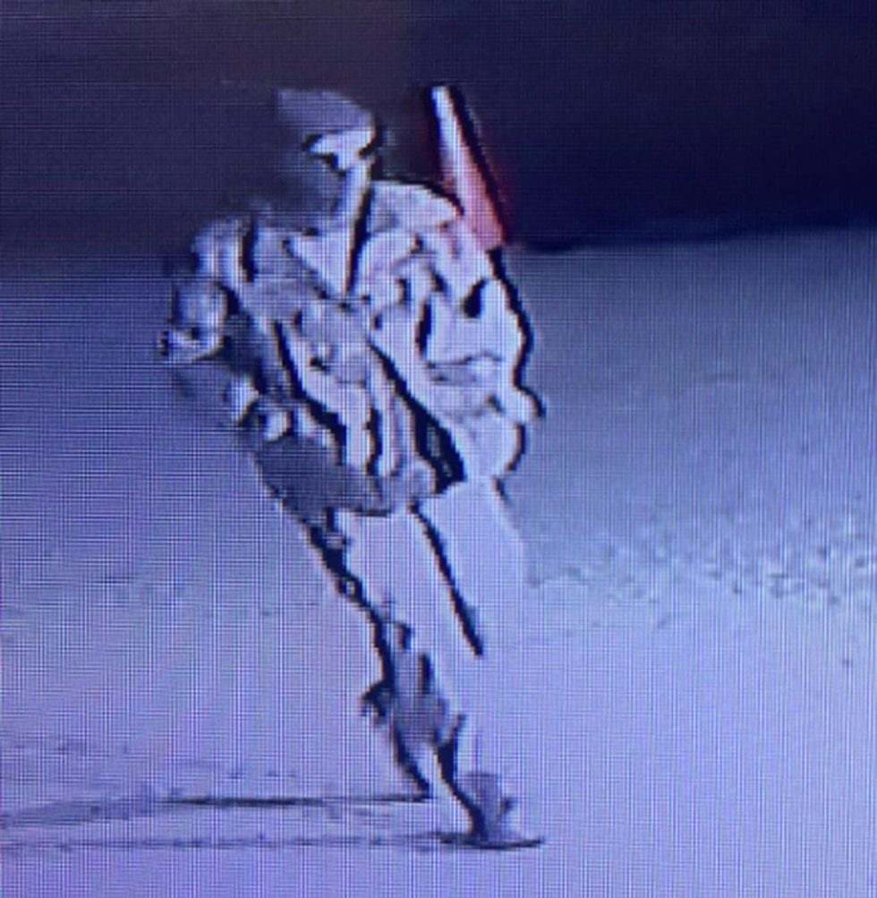 Video surveillance from the Moorhead Fargo Islamic Center Mosque captured images of a suspect...