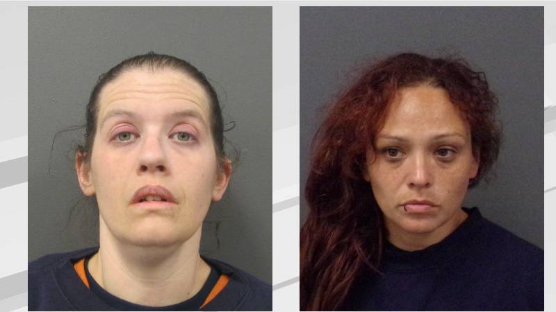 Nicole McAloney and Melissa Desjarlait were arrested for stealing a catalytic converter.