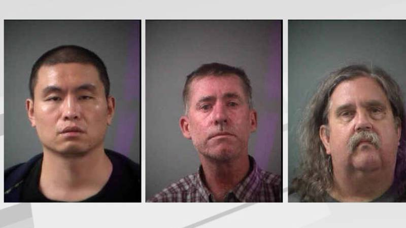 From left to right: 37-year-old Guowei Li, 48-year-old Jayson Otteson, 58-year-old Kevin Kilgore.