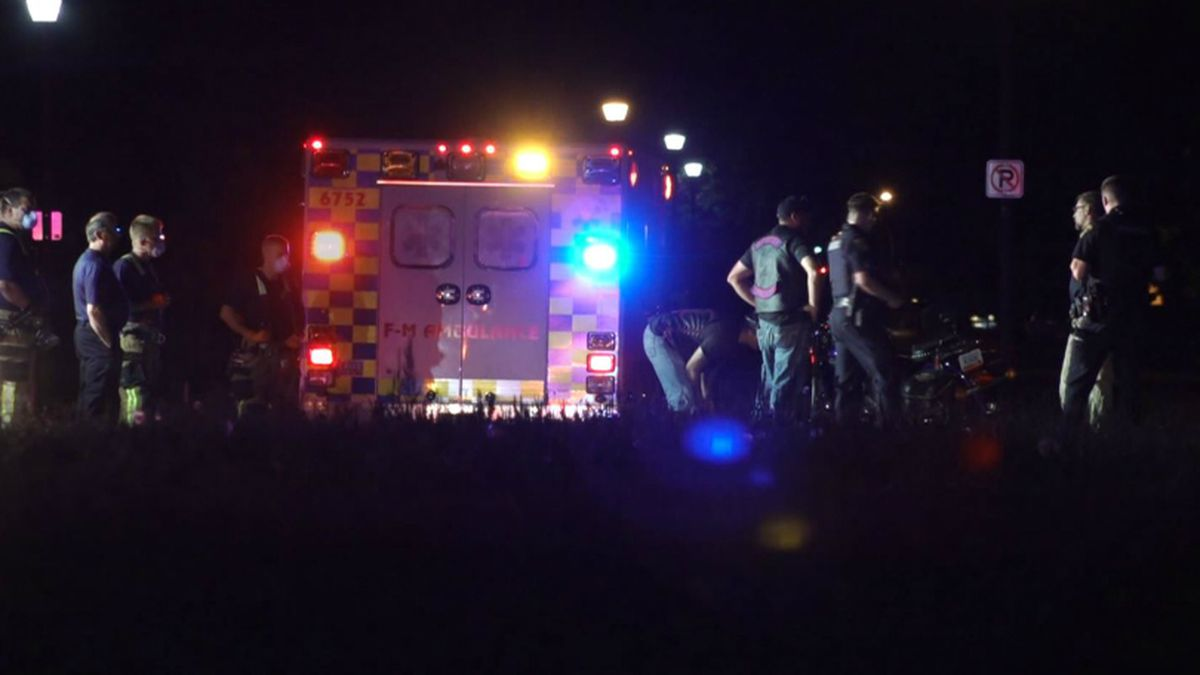 Emergency crews responded to a one-person motorcycle crash in West Fargo.