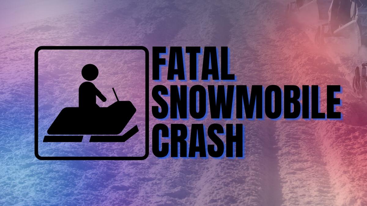 Fatal snowmobile crash graphic.