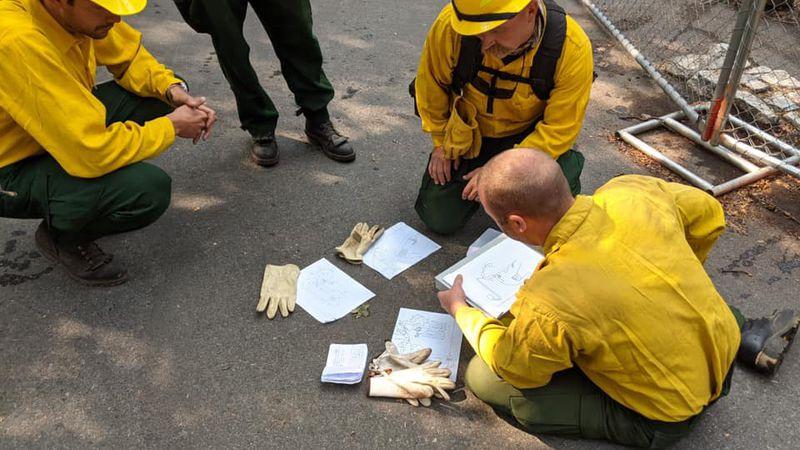 Fargo firefighters in Oregon.