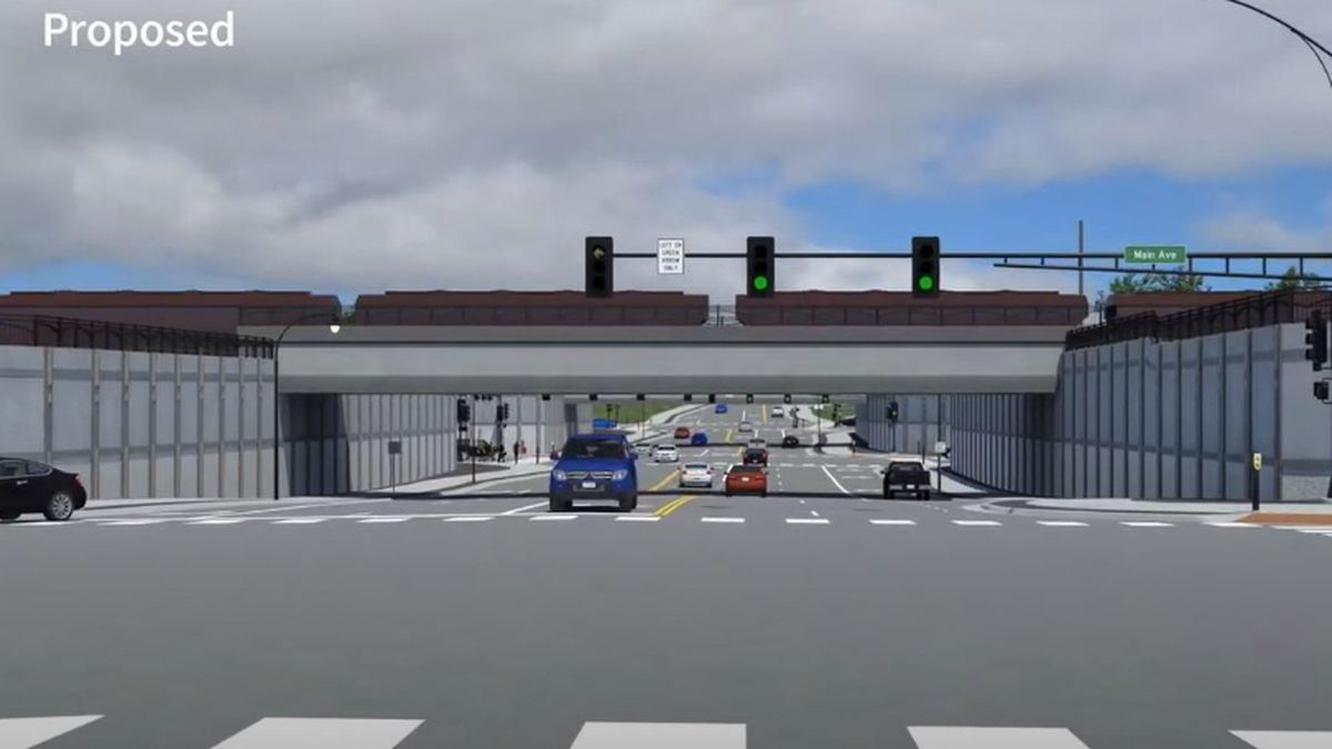 Proposed view of the 11th St. underpass in Moorhead.