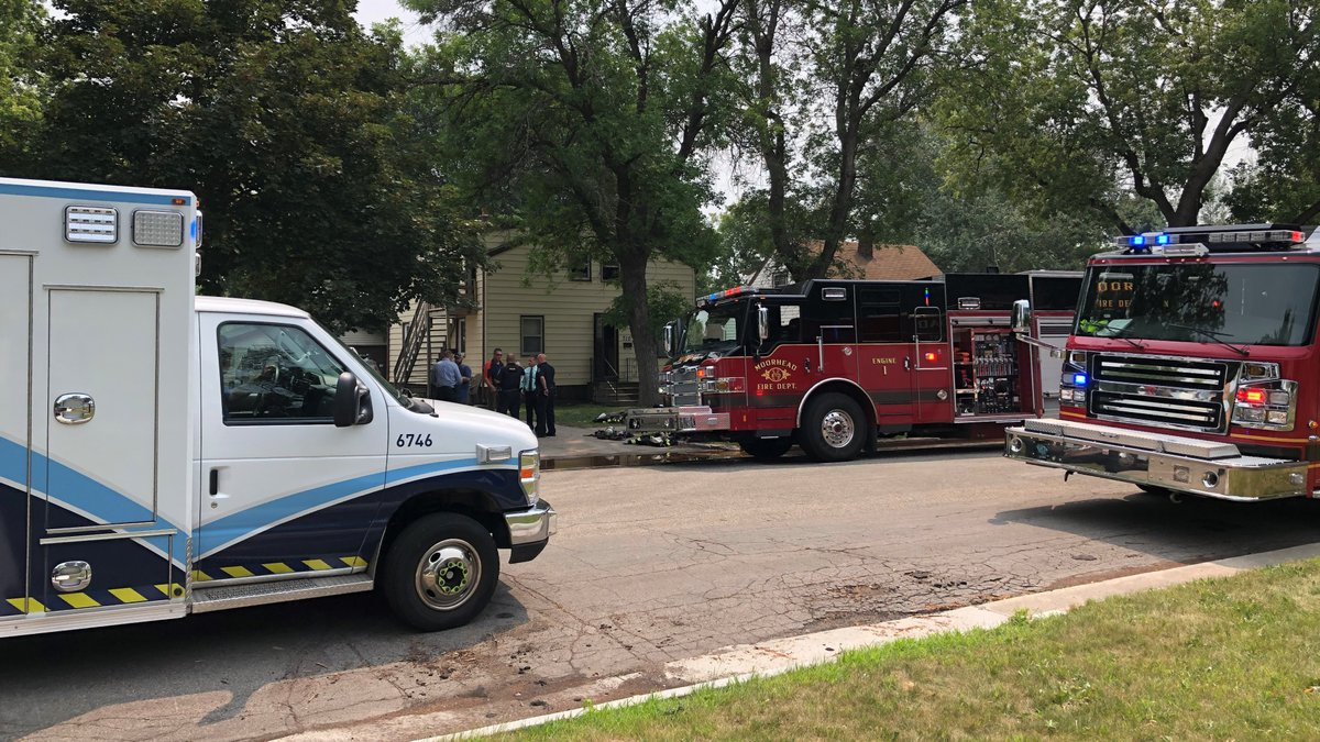 Fire at 710 12th Street North in Moorhead on July 20, 2021.