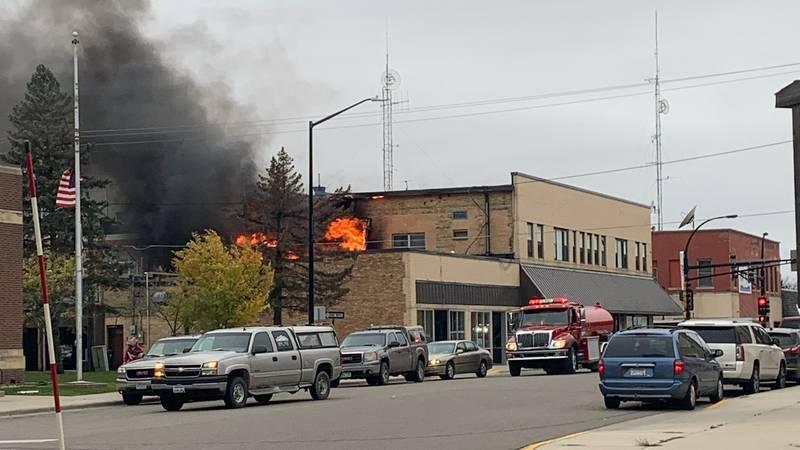 Fire in Wadena, MN