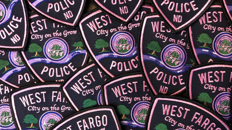 West Fargo Police Department starts off this month wearing pink patches to raise awareness for...