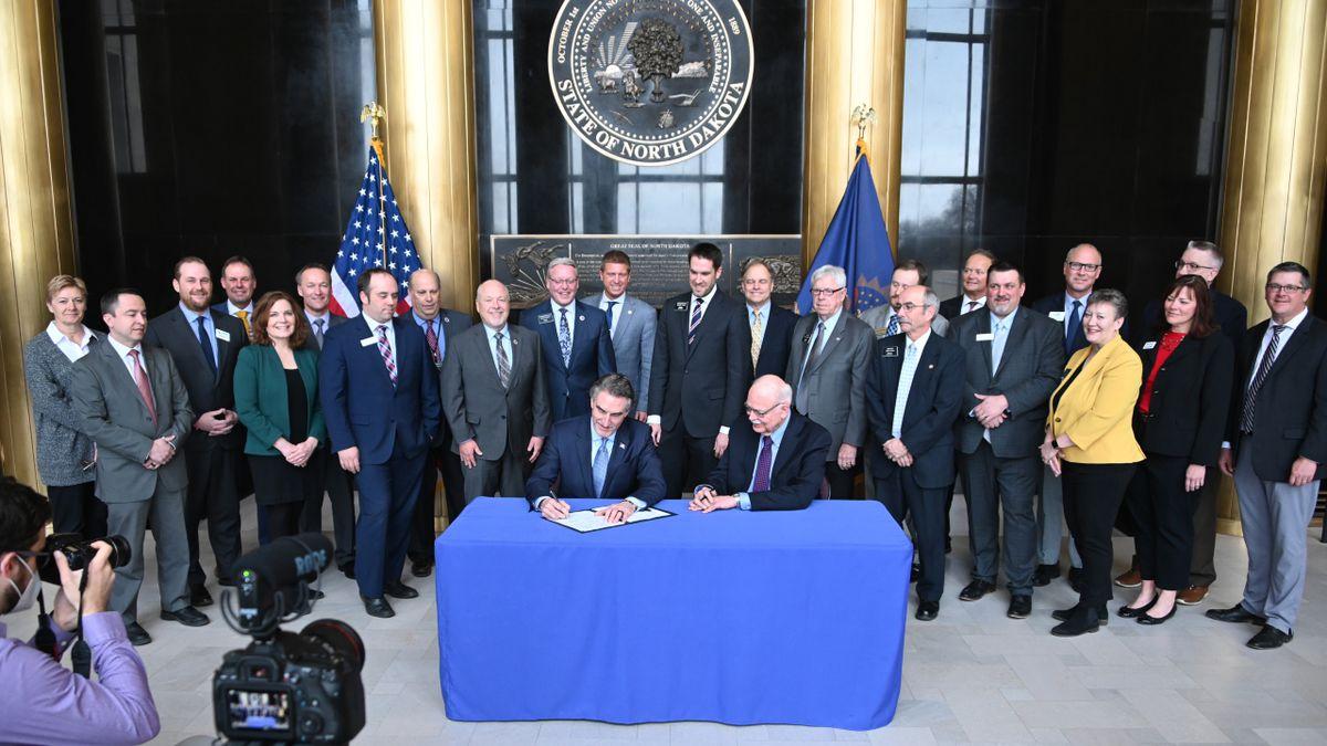 North Dakota Governor Doug Burgum signs HB 1175 creatING liability protections to shield health...