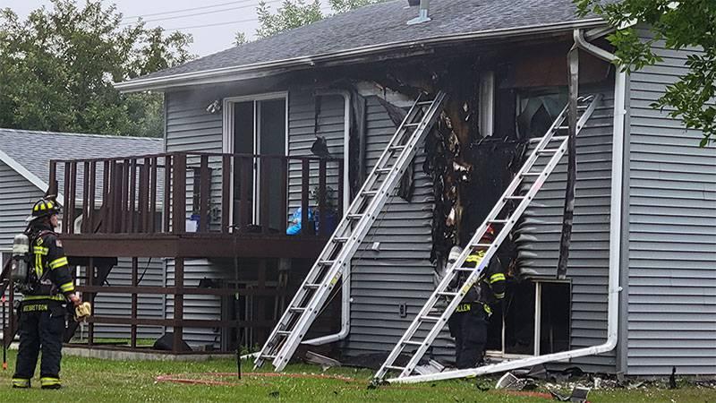 House heavily damaged