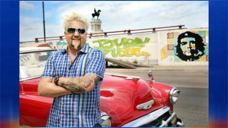 Promotional picture of Guy Fieri, host of Diners, Drive-ins and Dives.