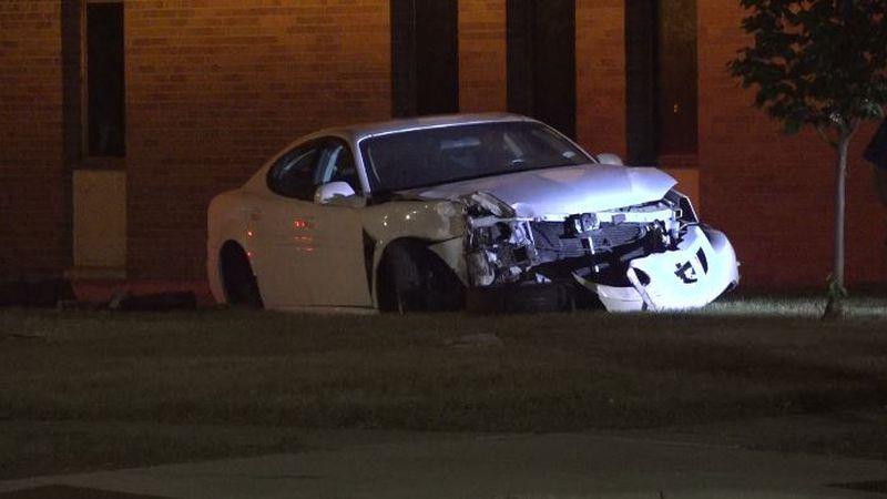 Vehicle damaged in crash on Monday, June 14.