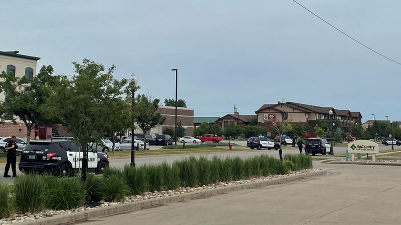 Shots fired near 43rd Street and 18th Avenue South in Fargo.