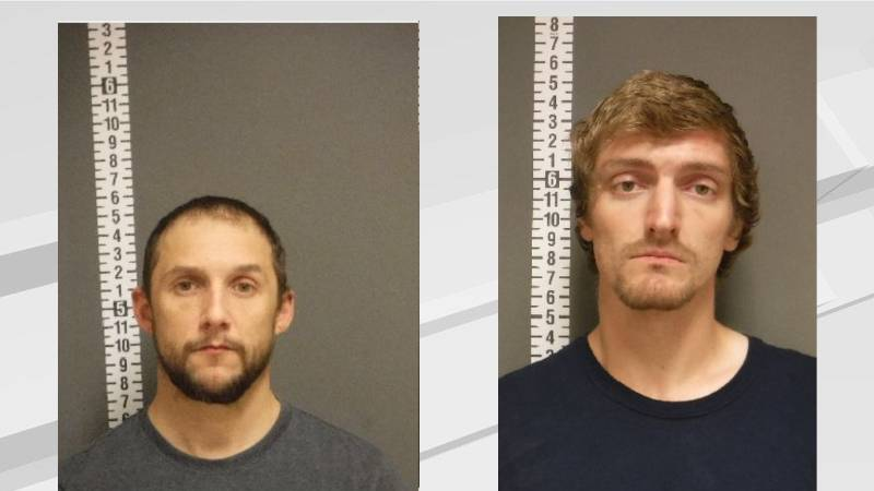 Michael Mead and Bradley Moderow were arrested Wednesday morning after the SWAT team assisted...