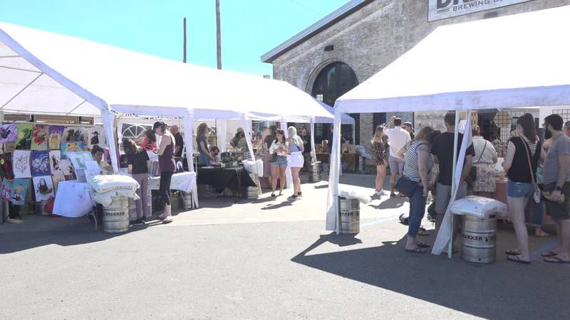 The Summer Craft Market returned after a long hiatus due to the COVID-19 pandemic.