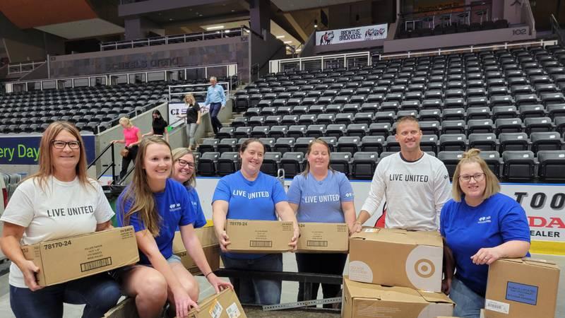 Essentia Health is donating 512 backpacks, 210 three-ring binders, 375 notebooks, and 515 packs...